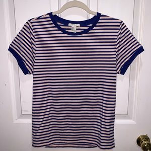 Blue and pink Forever 21 striped shirt